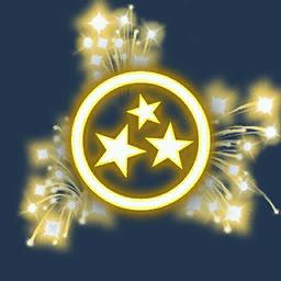 Recipe: Fireworks Emitter (Gold Triple Fan)