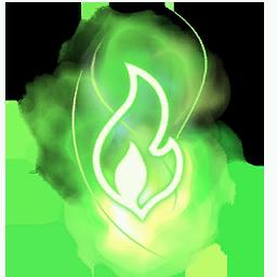 Recipe: Magic Fire (Green) Mote Emitter