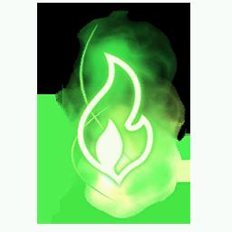 Recipe: Magic Fire (Small Green) Mote Emitter