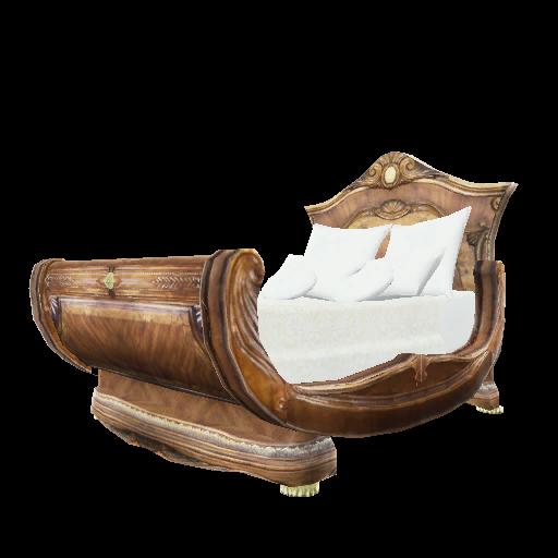 Recipe: Burled Wood Sleigh Bed