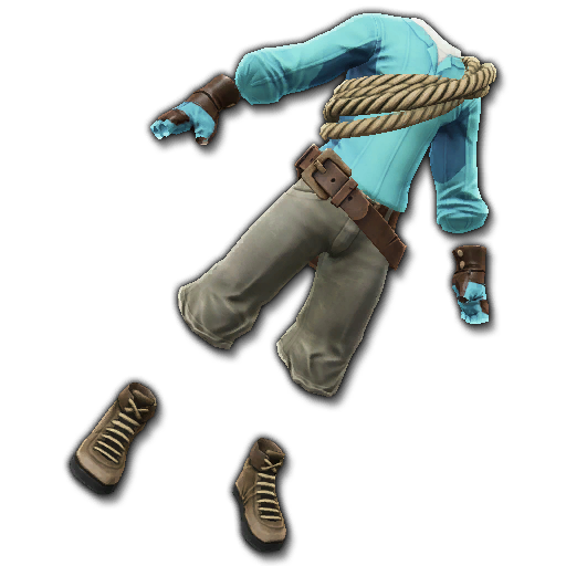 Recipe: Adventurer's Hiking Gear (Teal)